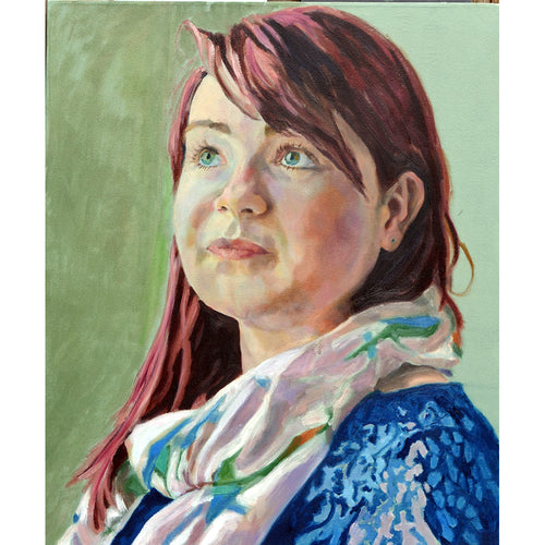 Florence Gibson oil on canvas portrait artwork by Stella Tooth