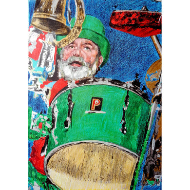 Bob Kerr's Whoopee Band Henri Harrison mixed media on paper by Stella Tooth