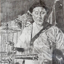 Load image into Gallery viewer, Jah Wobble at the Half Moon Putney by Stella Tooth Detail