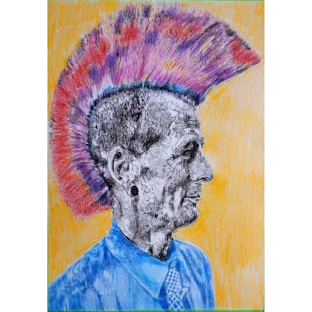Last of the Mohicans by Stella Tooth Artist Drawing