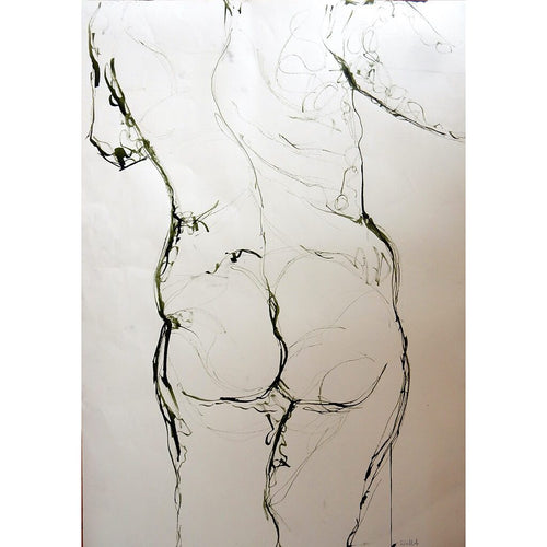 Life Drawing Ink on paper by Stella Tooth