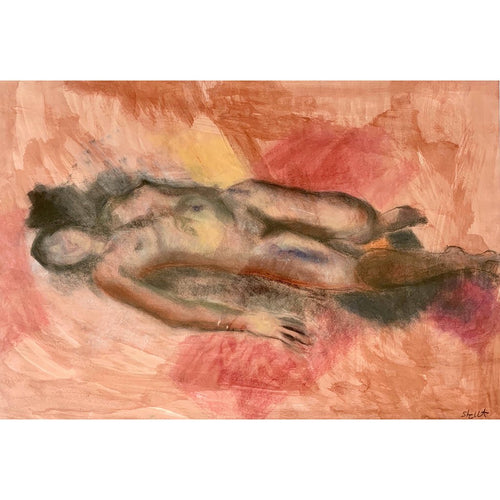 Life Drawing Mixed Media on paper by Stella Tooth