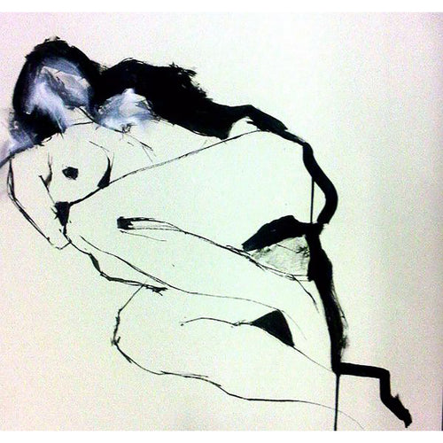 LYDIA LIFE DRAWING on paper by Stella Tooth