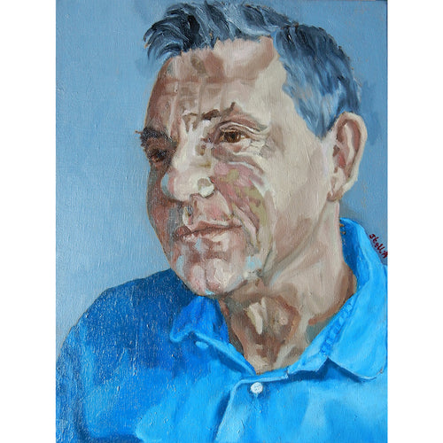Martin le Jeune portrait in oils by Stella Tooth.