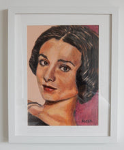 Load image into Gallery viewer, Audrey Hepburn Pastel Artwork by Stella Tooth Framed