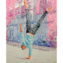 Load image into Gallery viewer, Jonathan Last street performer South Bank London acrobat portrait drawing original artwork by Stella Tooth artist