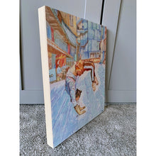 Load image into Gallery viewer, Manuele d'Aquino street performer South Bank London acrobat portrait drawing original artwork by Stella Tooth artist side