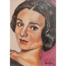 Load image into Gallery viewer, Audrey Hepburn Pastel Artwork by Stella Tooth