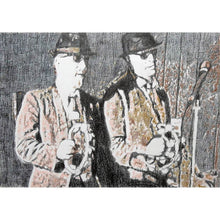 Load image into Gallery viewer, The Rawhides musicians performing at The Hideaway Streatham original pencil drawing on paper artwork by Stella Tooth