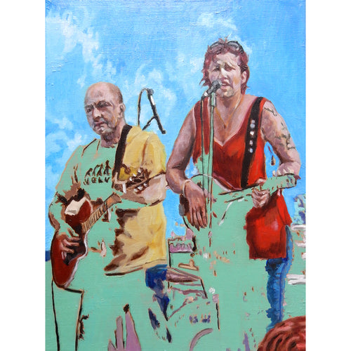 The Blarneys cover band oil on canvas artwork by Stella Tooth