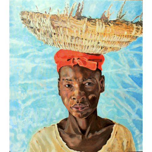 The Hod Carrier oil on canvas artwork by Stella Tooth