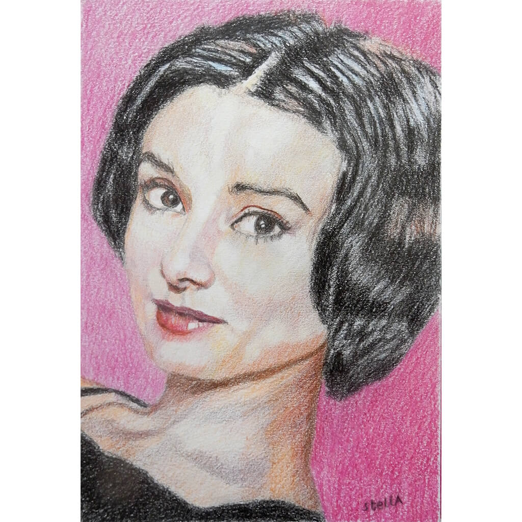 'The best thing to hold Audrey Hepburn mixed media on paper by Stella Tooth