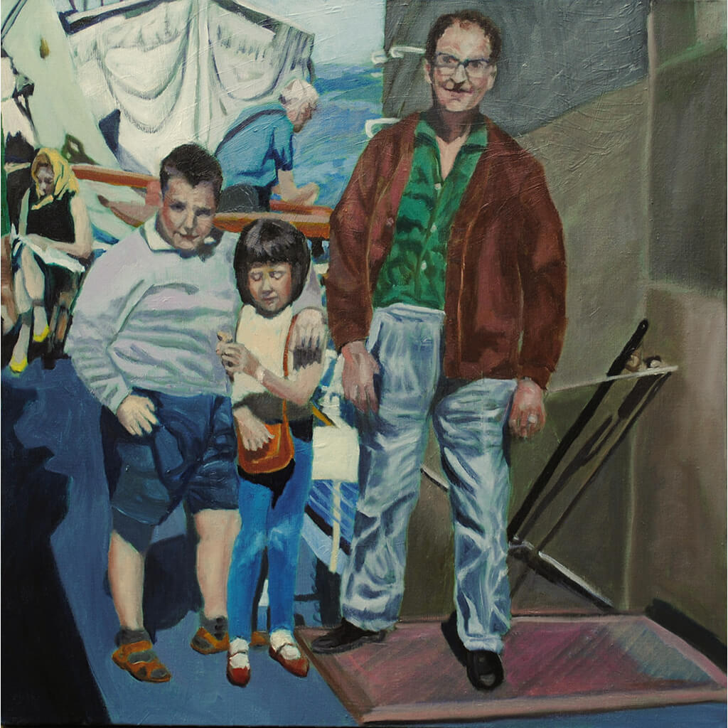 The crossing oil on canvas artwork by Stella Tooth