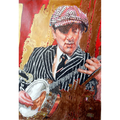 Bob Kerr's Whoopee Band 'Spats' mixed media on paper artwork by Stella Tooth
