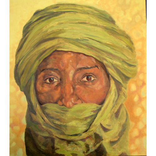 Tuareg oil on canvas by Stella Tooth