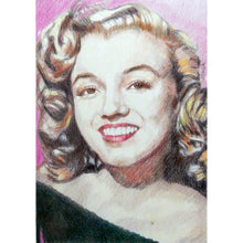 Load image into Gallery viewer, Portrait of Marilyn Monroe in her youth pencil on paper in frame by London based portrait artist Stella Tooth