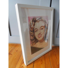 Load image into Gallery viewer, Portrait of Marilyn Monroe in her youth pencil on paper in frame by London based portrait artist Stella Tooth side