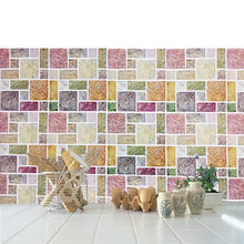 Load image into Gallery viewer, 3D square and rectangular mosaic tiles epoxy stickers
