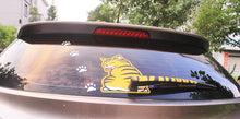 Load image into Gallery viewer, Rear windshield cat with tail as a wiper cover stickers