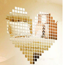 Load image into Gallery viewer, 3D square tiles mosaic mirror stickers
