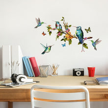 Load image into Gallery viewer, Multicolor butterflies and colibris sticker