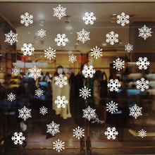 Load image into Gallery viewer, Electrostatic window stickers white snowflakes