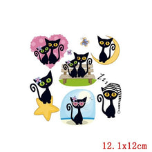 Load image into Gallery viewer, Cartoon Cat Dog Patch Iron On Transfers For Clothing Heat Transfers Cute Unicorn Animal Thermo Stickers On Kids Clothes Stripes