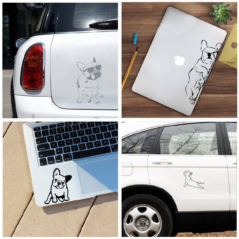 Car and laptop stickers French Bulldog