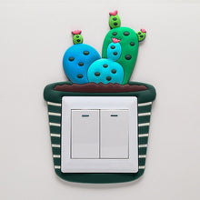 Load image into Gallery viewer, Glow in the dark switch stickers (cat, dog, panda, bear, lemon, chick, pear, shark, watermelon, whale, cupcake,car, glass, cactus, train, scooter, flower, dinosaur)