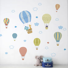 Load image into Gallery viewer, Clouds and hot air balloon stickers