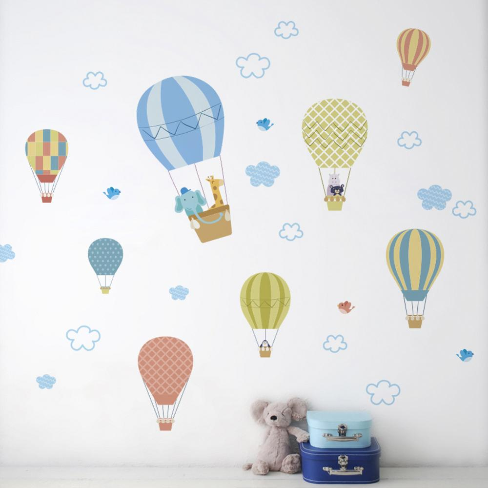 Clouds and hot air balloon stickers