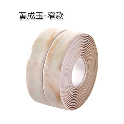 Flexible PVC sealing self-adhesive strip roll several solid colors, marble pattern