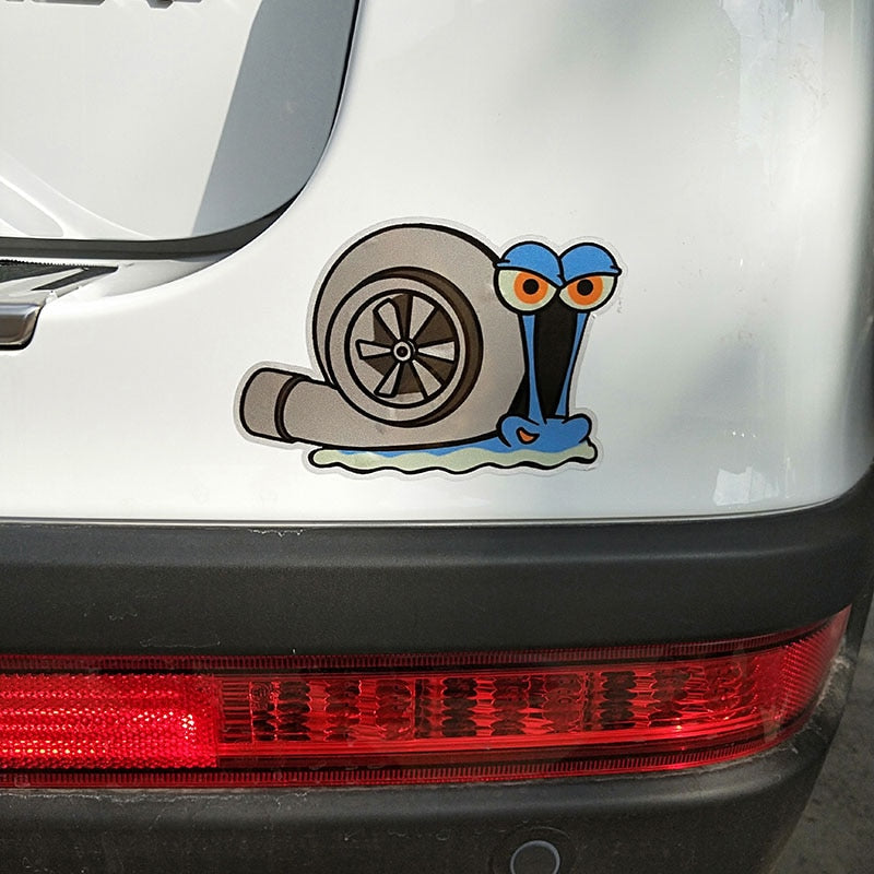 Car sticker snail