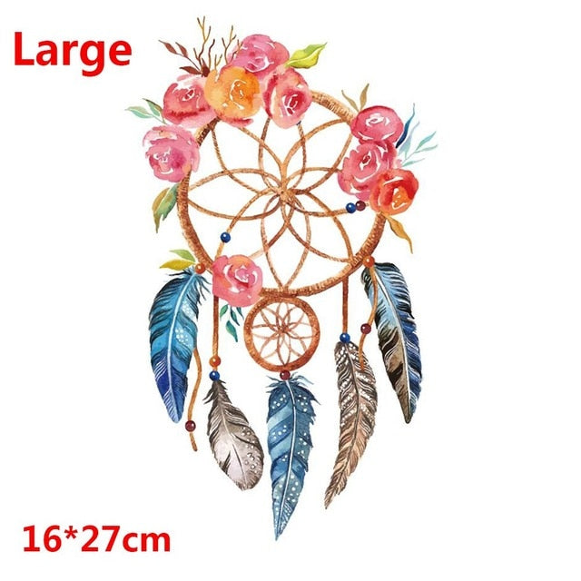 Dreamcatcher Best Wishes Patches Iron On Transfer Stickers Heat Transfers Patch For Clothing T-shirt Decor DIY Clothes Patches