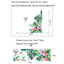 Load image into Gallery viewer, Tropical leaves, flowers and bird sticker