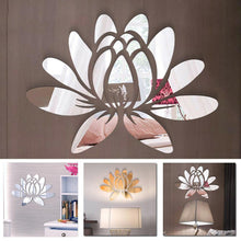 Load image into Gallery viewer, 3D lotus flower mirror sticker
