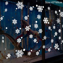 Load image into Gallery viewer, Christmas window stickers (Santa Claus, reindeer, deer, moon, snowflakes...)