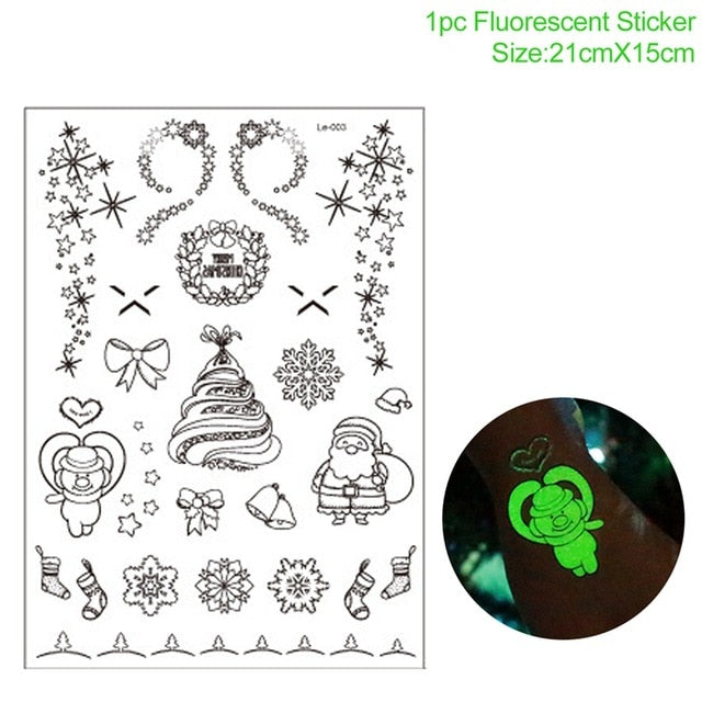 Christmas window stickers (Santa Claus, reindeer, deer, moon, snowflakes...)