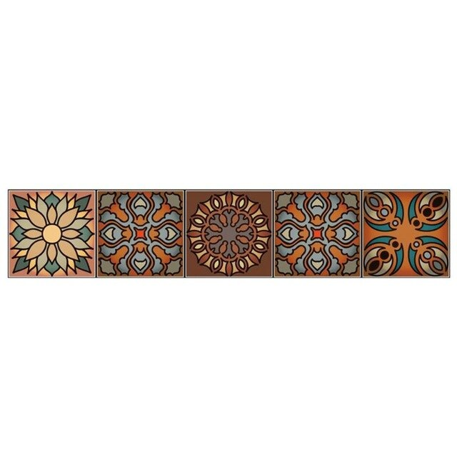 Cement tile imitation stickers (100cm*20cm, 5pcs/set)
