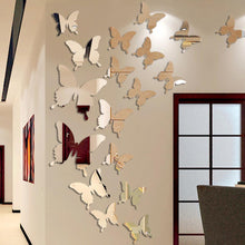 Load image into Gallery viewer, 3D butterfly mirror sticker
