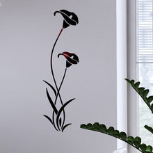 Load image into Gallery viewer, 3D flower calla lily mirror stickers