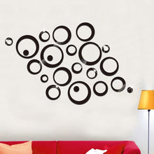 Load image into Gallery viewer, 3D circles and rings mirror stickers