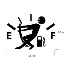 Load image into Gallery viewer, Fuel tank car sticker men bending the gauge needle