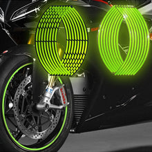 Load image into Gallery viewer, Motorcycle strips reflective wheel sticker