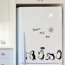 Load image into Gallery viewer, Fridge Have a nice day penguin stickers
