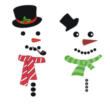 Load image into Gallery viewer, Two snowmen fridge stickers