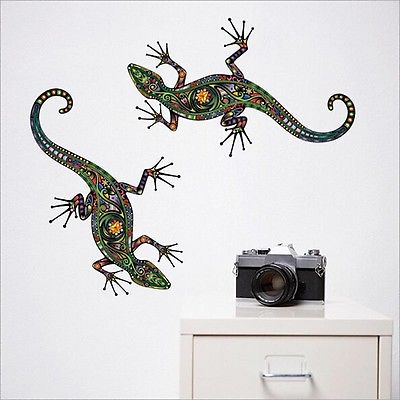 Ethnic gecko stickers