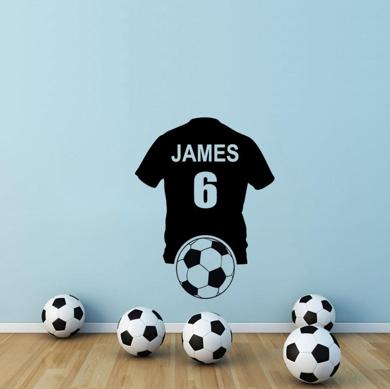 Football shirt number 6 JAMES sticker