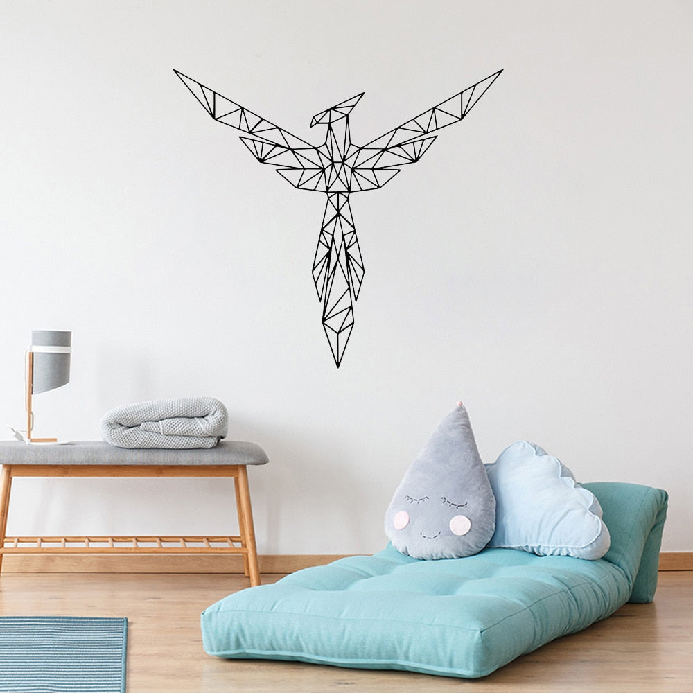 Geometric phoenix sticker