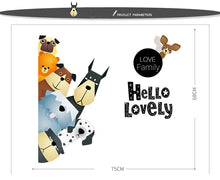 Load image into Gallery viewer, Cartoon dogs sticker Hello lovely